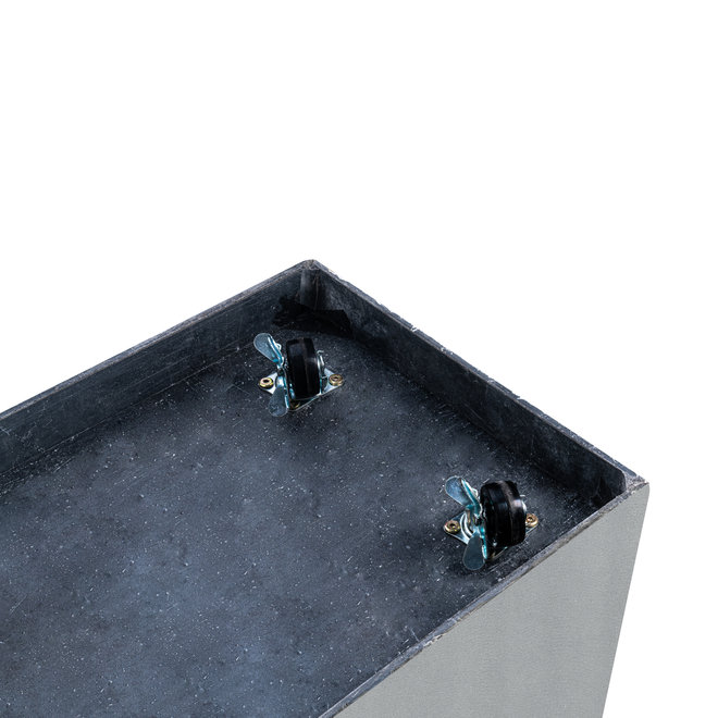 "Pflanzkübel ""Argento Cube"" Betongrau Quadratisch Fiberglas"