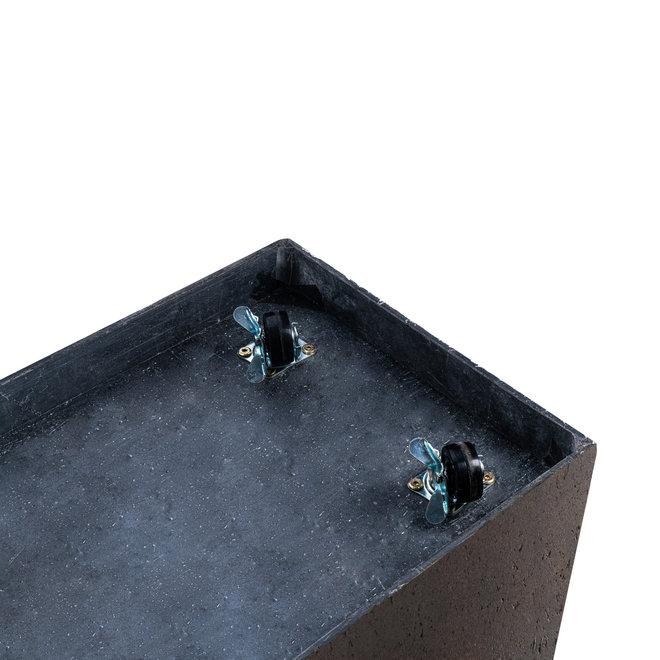 Pflanzkübel ''Grigio Cube'' Rost Quadratisch Fiberglas