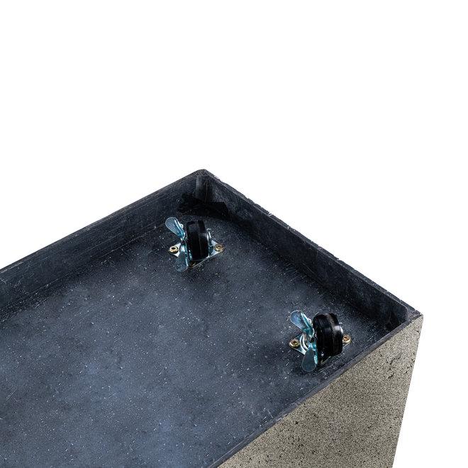 Pflanzkübel ''Grigio Cube'' Grau Quadratisch Fiberglas