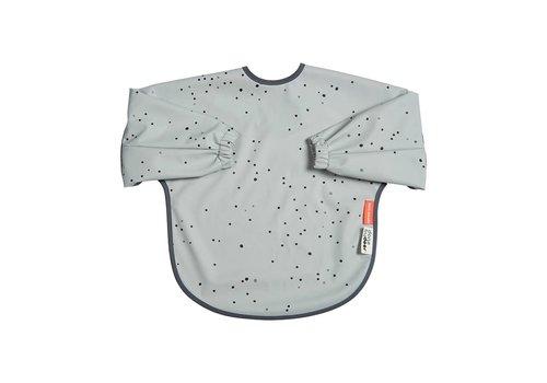 Done by Deer Sleeved bib, 18m+, Dreamy dots, grey