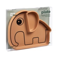 Silicone Stick & Stay plate, Elphee, mustard