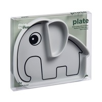 Silicone Stick & Stay plate, Elphee, grey