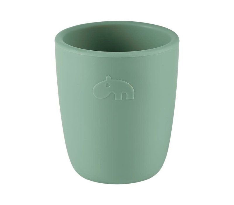 Silicone mini mug, green
