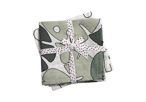 Done by Deer Burp cloth, 2-pack, Tiny tropics