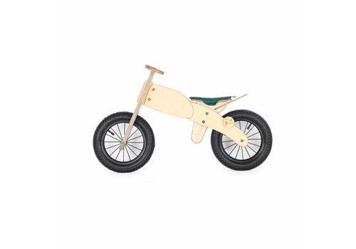 DipDap Houten loopfiets moto - groen