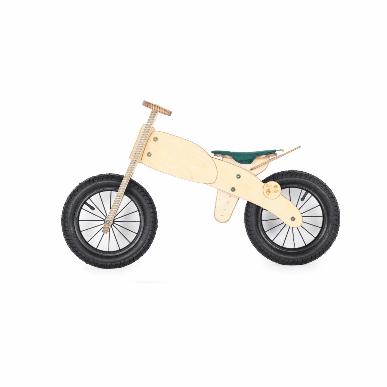 DipDap Houten loopfiets motor - groen