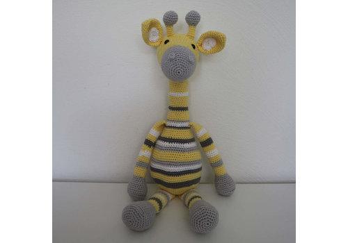 Giraffe gehaakt - 43 cm