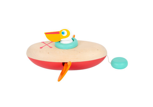 Small Foot Water Toy Wind-Up Canoe Pelican