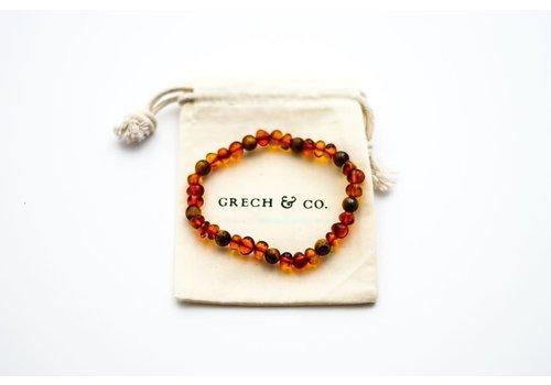 Grech & Co Amber Bracelet 18cm Adult - Fierce