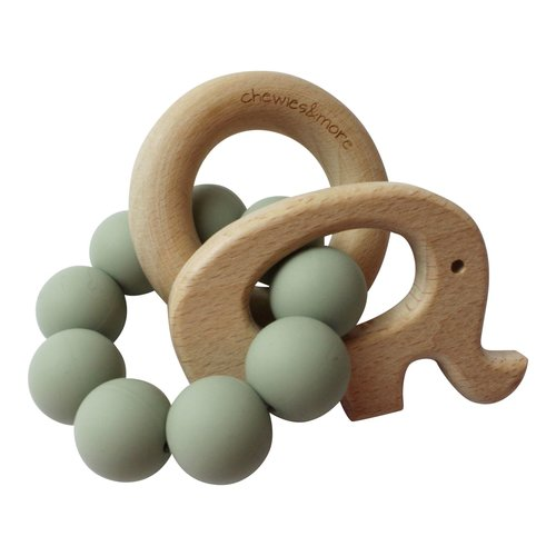 Chewies & More Play Rattle Elephant - Sage