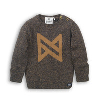 Sweater Navy + Camel
