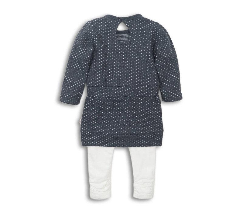2 pce Babysuit dress Dark grey