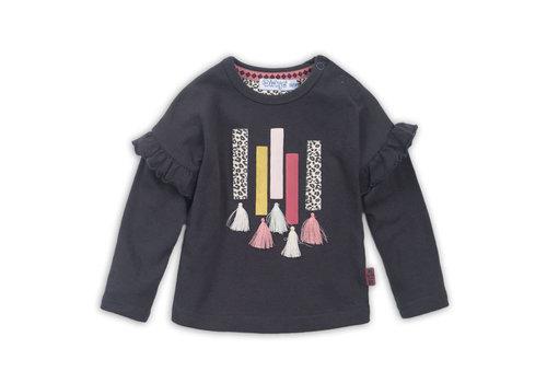 Dirkje Baby t-shirt ls  Dark brown