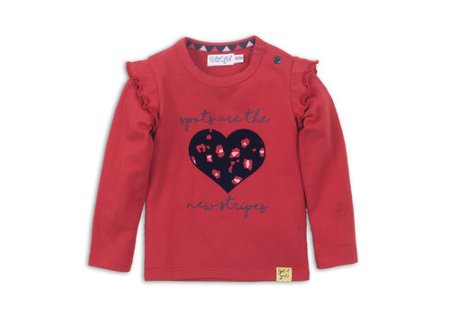 Dirkje Baby t-shirt ls Red