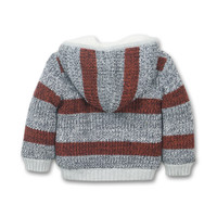 Baby outside cardigan