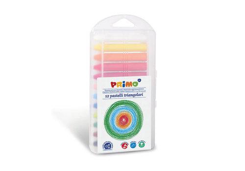 Primo 12 Waskrijt Supersoft 3-zijdig in box