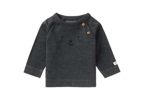 Noppies U T-Shirt LS Arlington - Charcoal Melange
