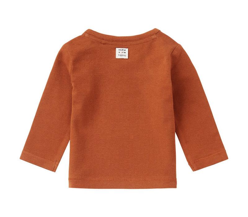 G Regular T-Shirt LS Roedtan Rust