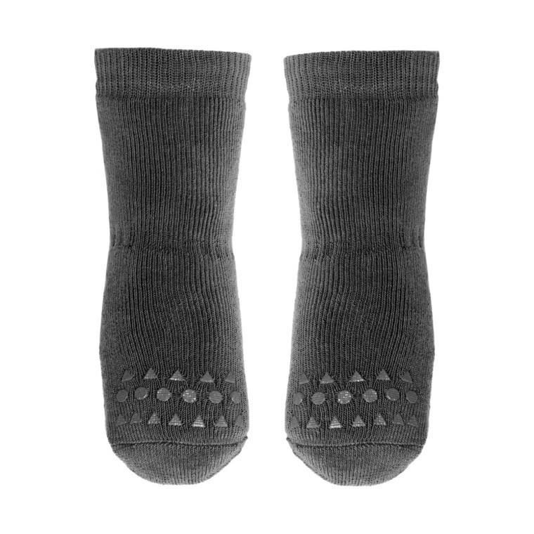 GoBabyGo Socks Anti-slip - Dark Grey