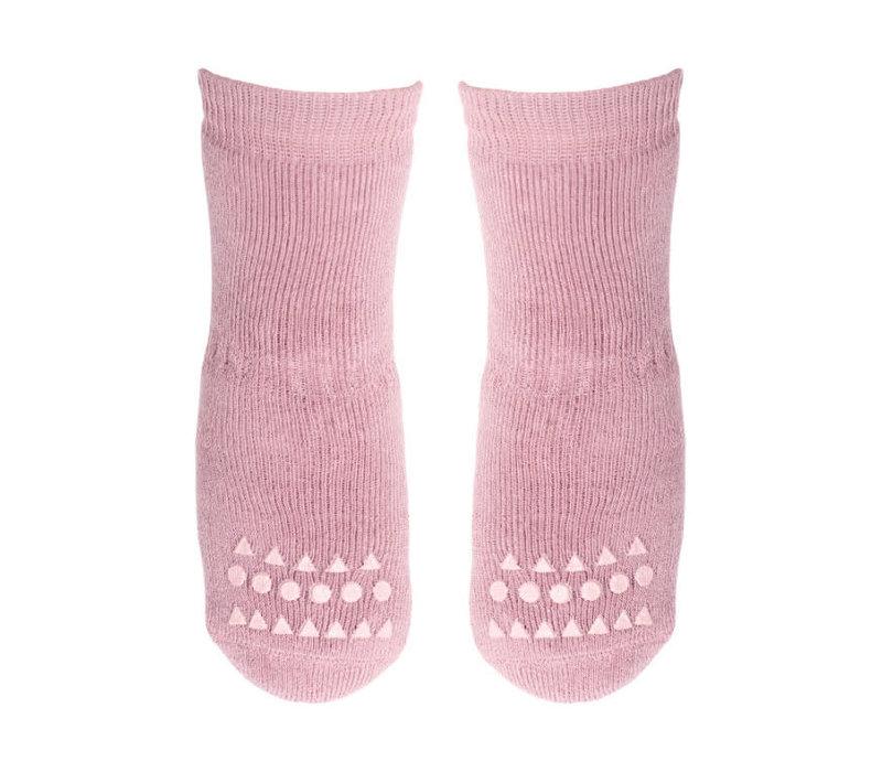 Socks Anti-slip - Dusty rose