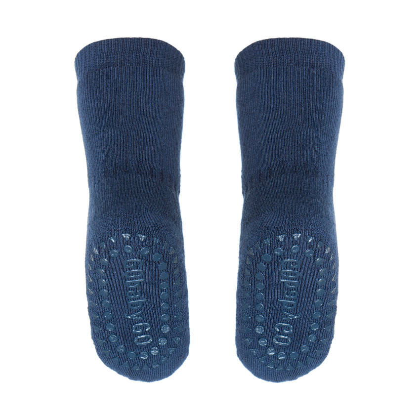 GoBabyGo Socks Anti-slip - Petrol blue