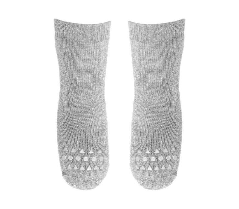 Socks Anti-slip - Grey melange