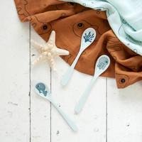 Spoon 3 pcs Sea friends Blue