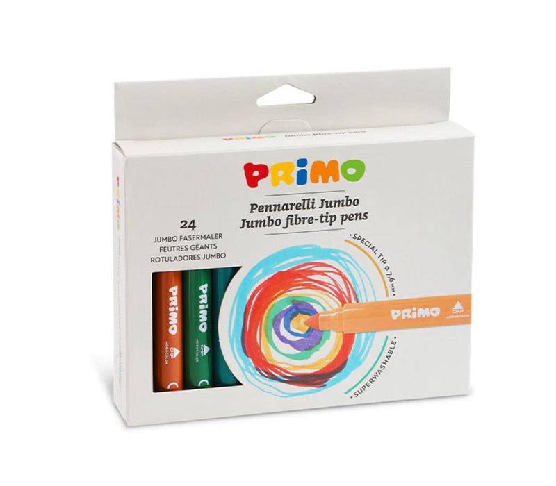 24 Jumbo viltstiften (fiber punt) ø7.6mm in doos