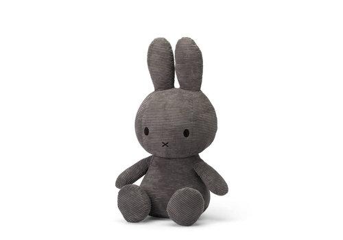 Nijntje Miffy Corduroy Dark Grey - 50 cm