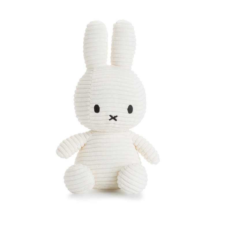 Nijntje Miffy Corduroy white  - 24 cm