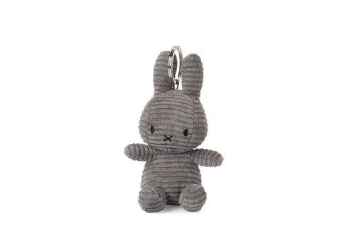 Nijntje Miffy Keychain Corduroy Dark Grey - 10 cm