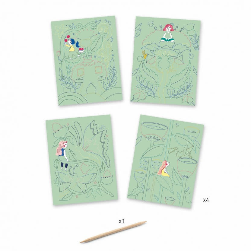 Djeco Kraskaart - Vlinders
