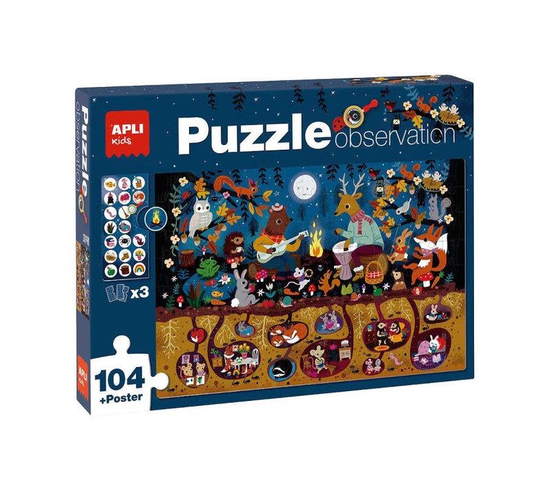 Bos Observeer Puzzel 104-delig