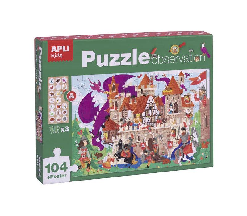 Kasteel Observeer Puzzel 104-delig