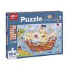 APLI Piratenschip Observeer Puzzel 104-delig