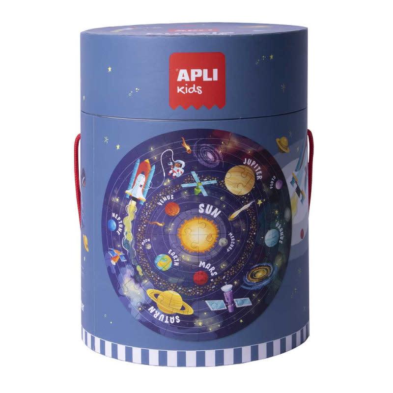 APLI Zonnestelsel Vloerpuzzel Rond 48-delig