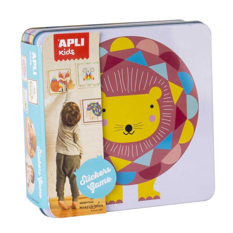 APLI Leeuw Sticker Spel in blik
