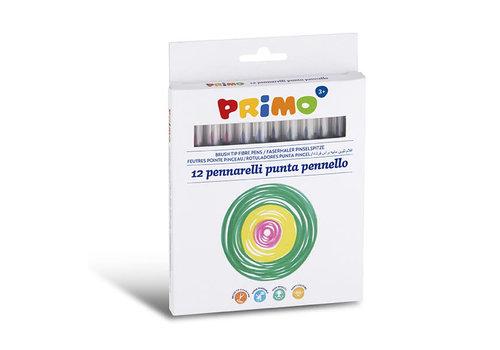 Primo 12 Viltstiften uitwasbaar dun ø4mm in doos