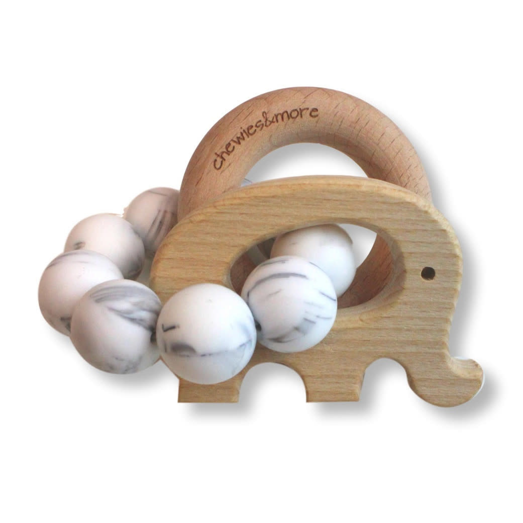 Chewies & More Play Rattle Elephant - Marble