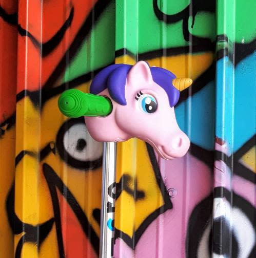 Micro Step Scootaheadz eenhoorn paars/roze