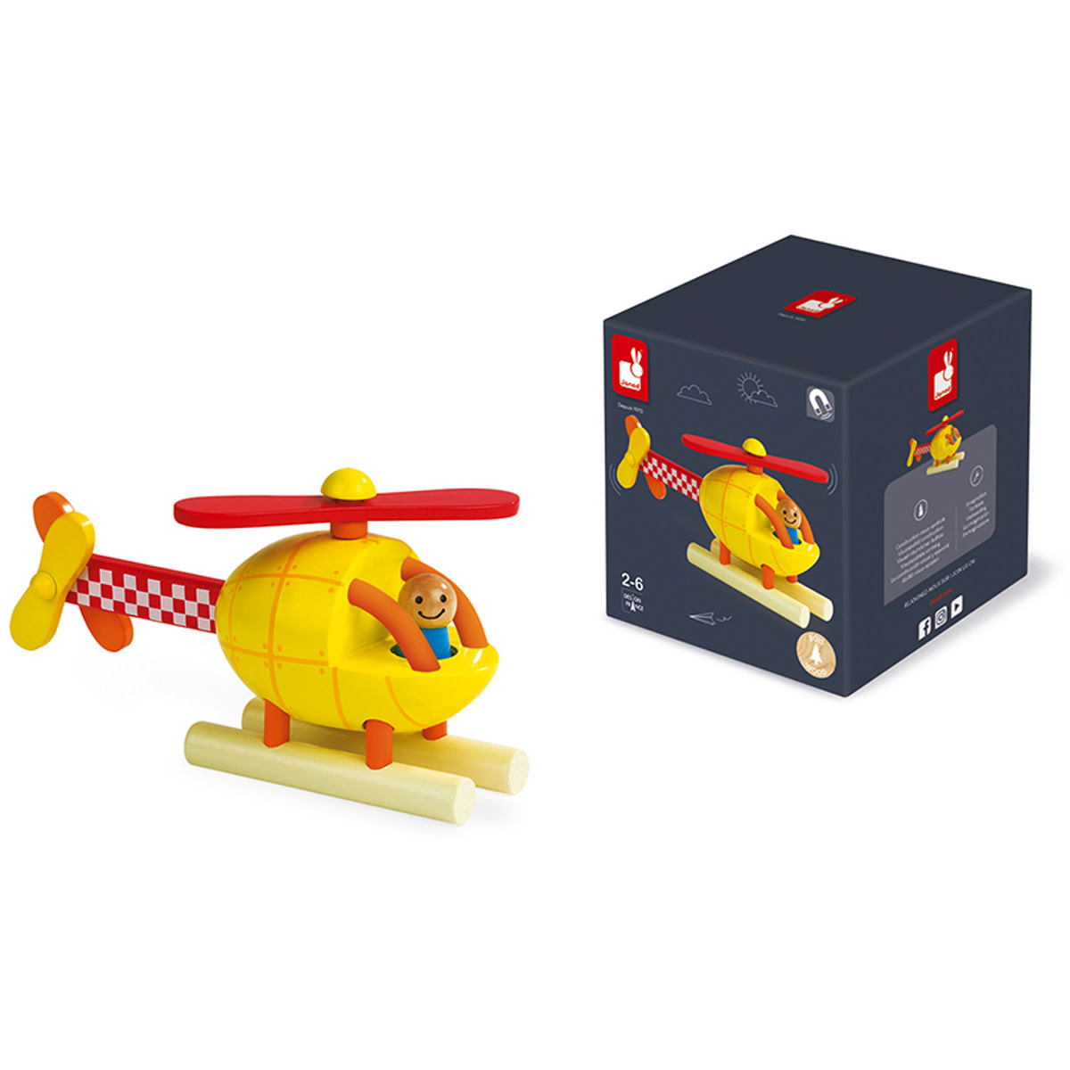 Janod Magneetset - Helicopter
