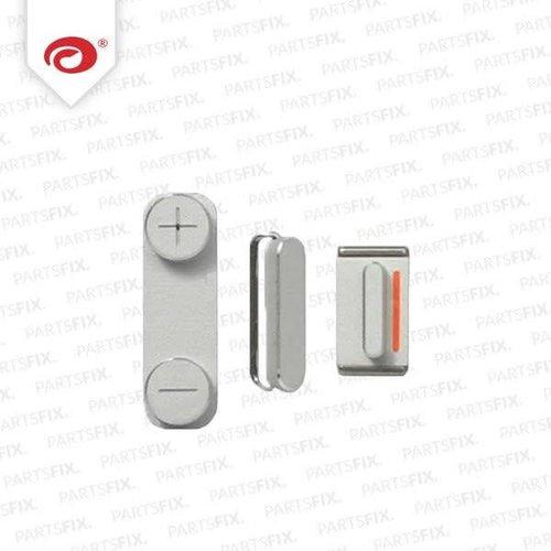 iPhone 5 Knoppen Set Zilver