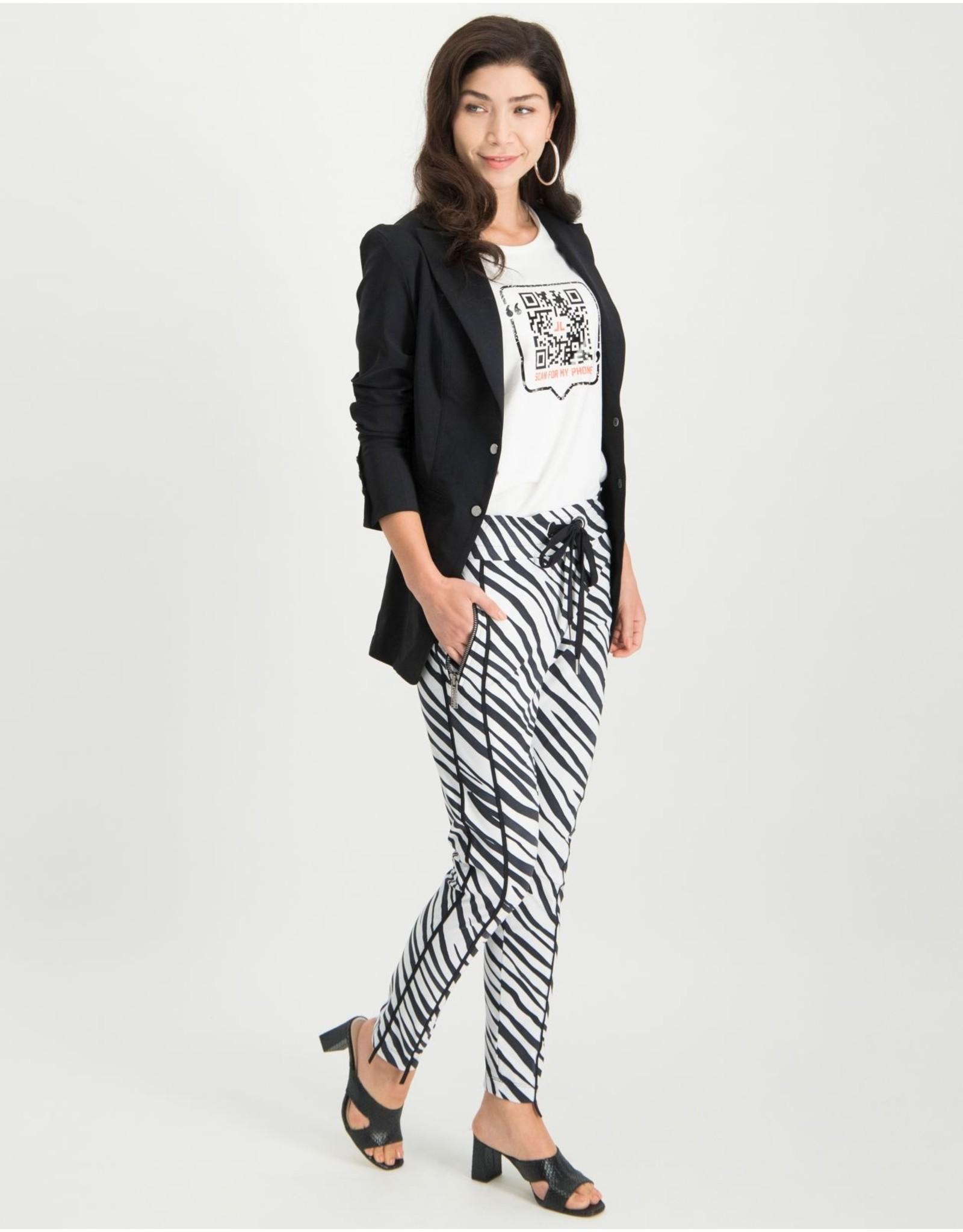 Jane Lushka pants black and white ZE220SS033P