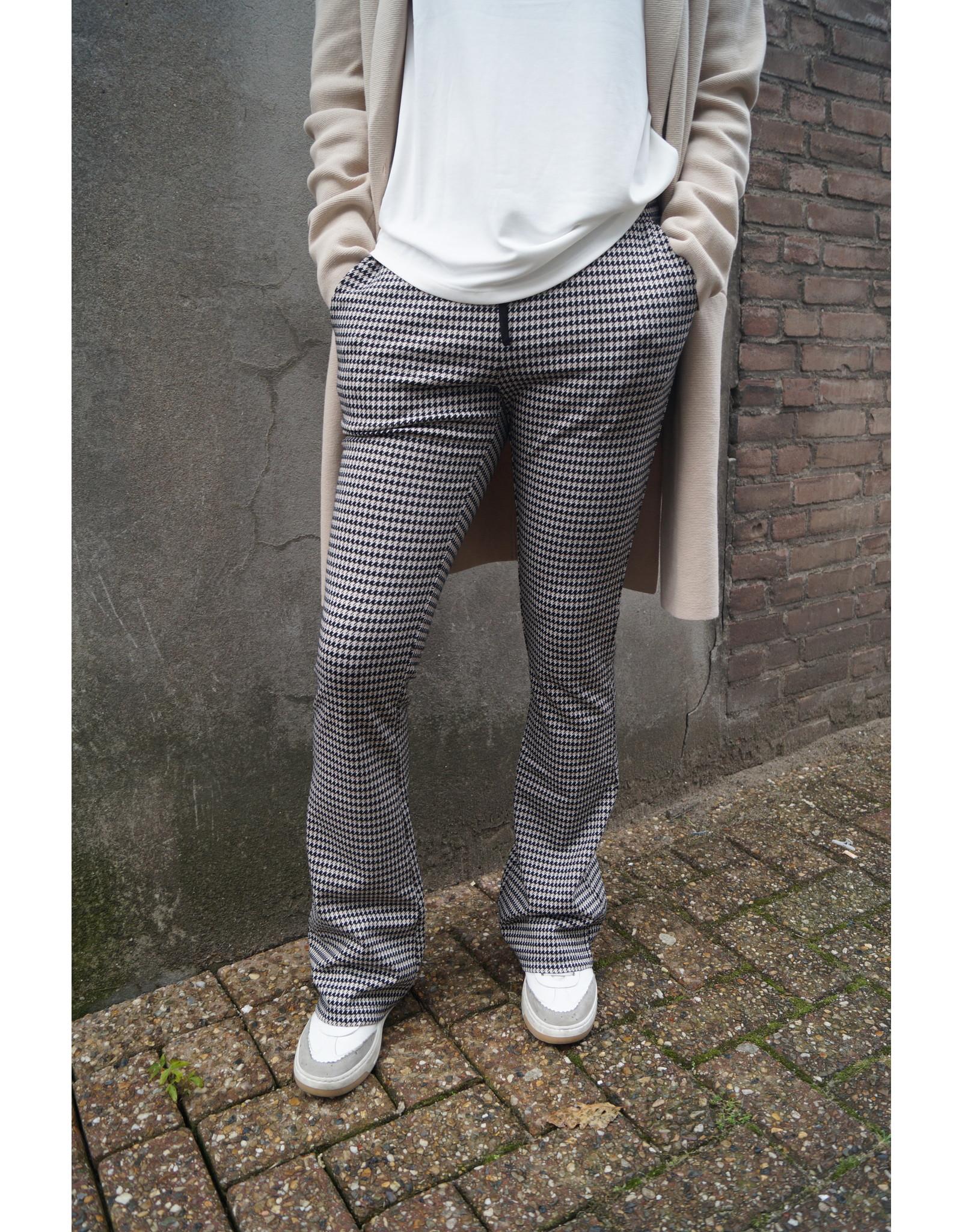 Geisha Flair pants pied de poule