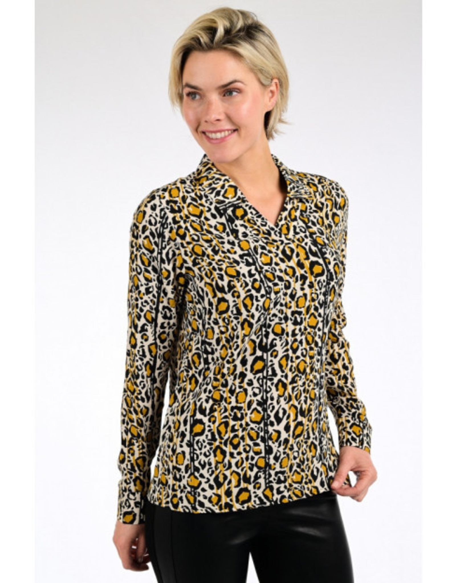 Geisha Blouse leopard streep