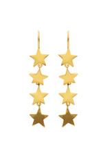 Just Marie Oorbellen Four Stars