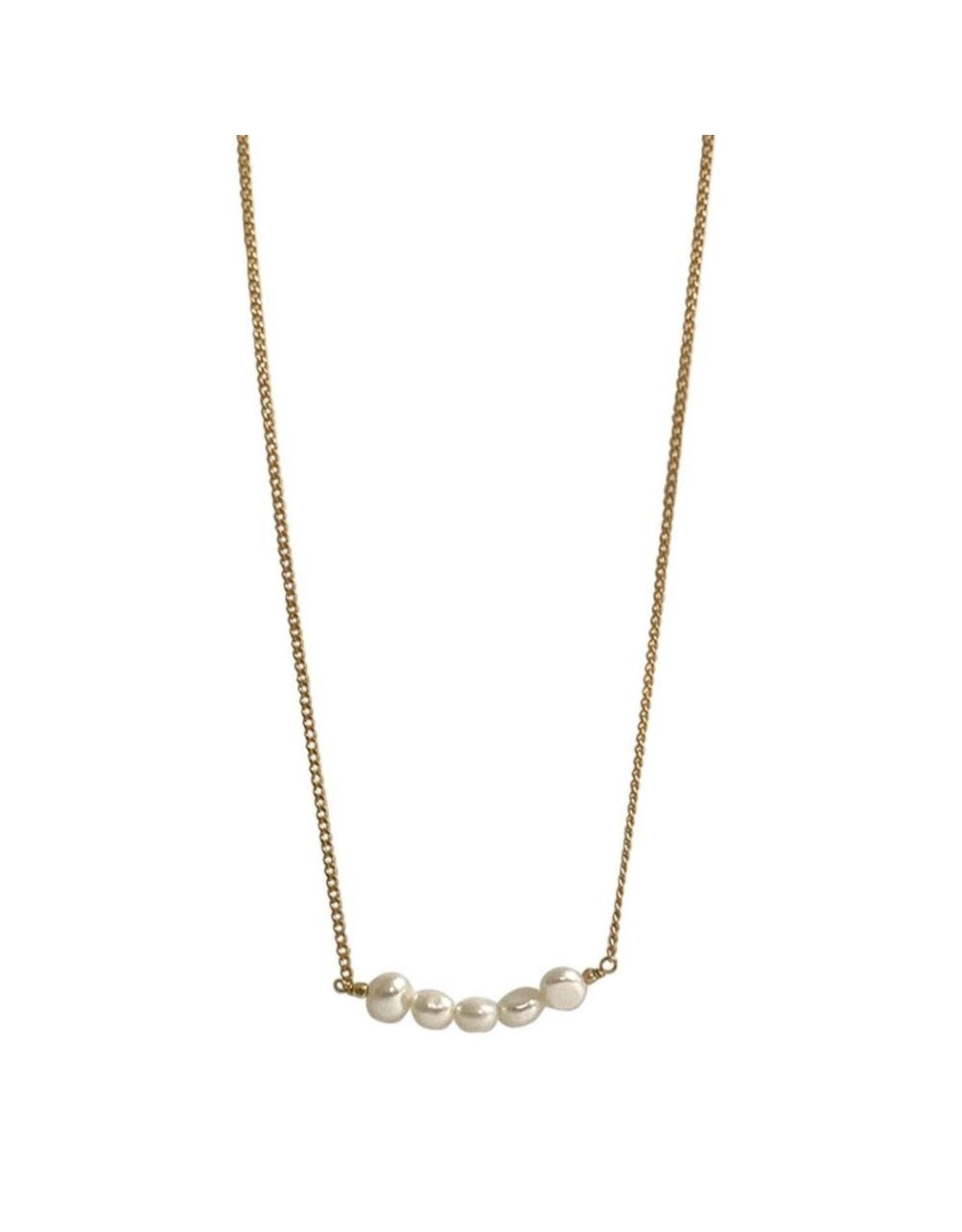 Ibu jewels ketting pearl bar ibu juwels