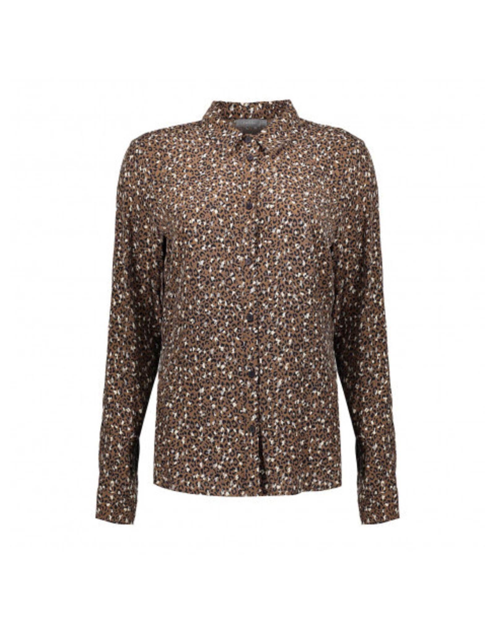 Geisha blouse mini print leopard
