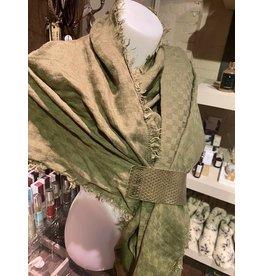 Pimps and Pearls pimps en pearls sjaal groen
