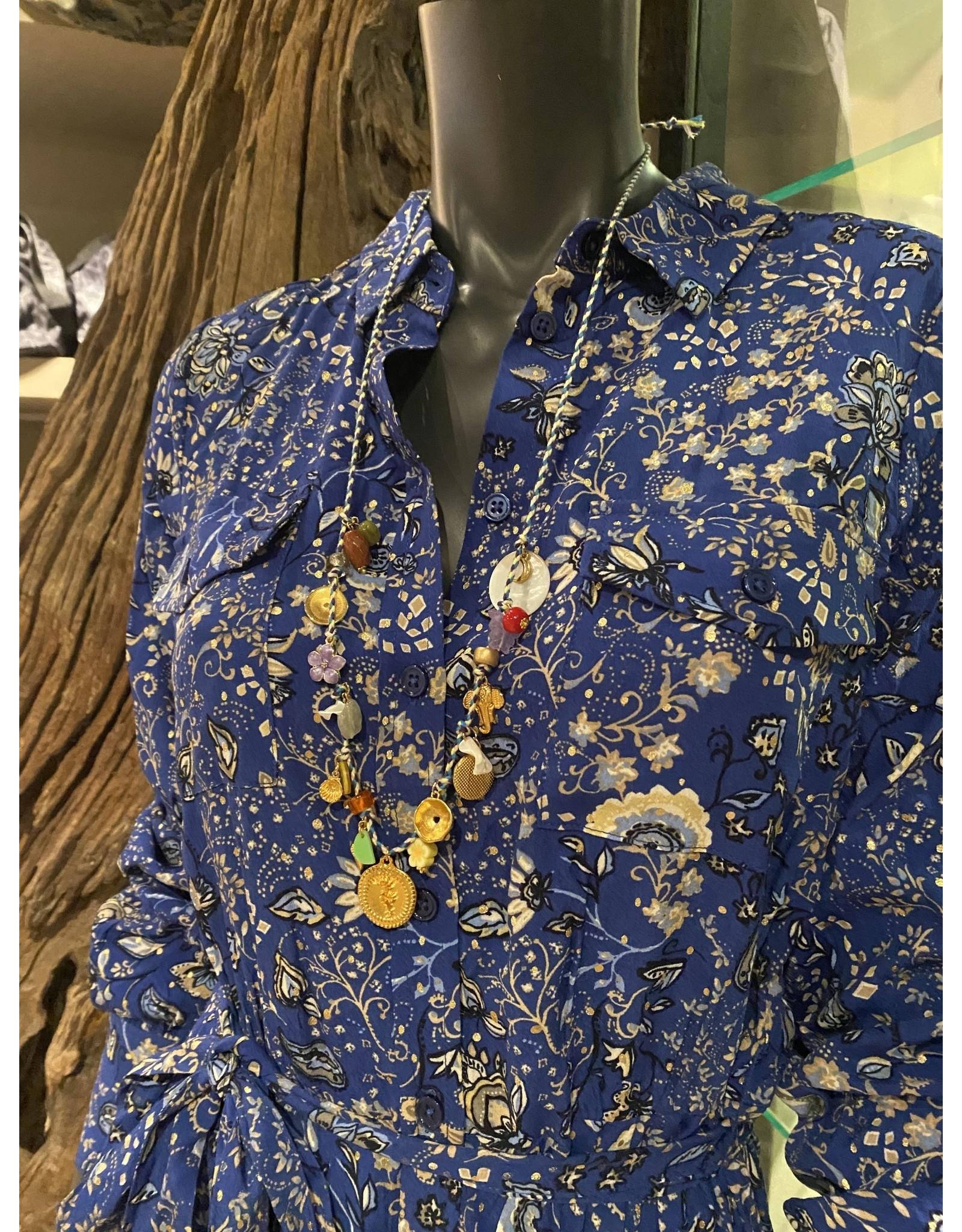 Jazu jewellery ketting SC312 blauw